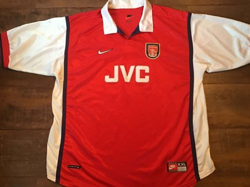 1998 1999 Arsenal Home Football Shirt 2XL XXL